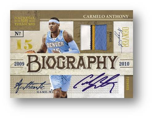 Auto Biography Prime Materials 2010 Panini National Treasures Auto Image