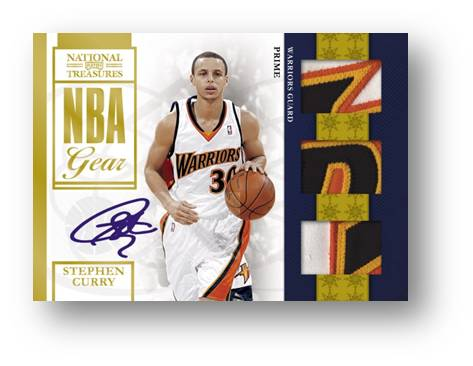 Stephen Curry 2010 Panini National Treasures Auto Image