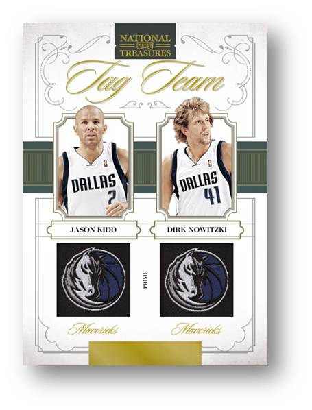 Tag Team Logo Combos 2010 Panini National Treasures Auto Image