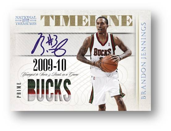 Timeline Signature Materials 2010 Panini National Treasures Auto Image