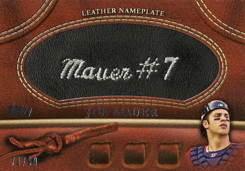 2011topps mauer nameplatesleather Image