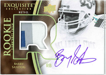 Barry Sanders 2010 EXQUISITE COLLECTION FOOTBALL Image