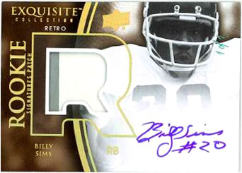 Billy Sims 2010 EXQUISITE COLLECTION FOOTBALL Image