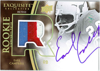 EARL CAMPBELL 2010 EXQUISITE COLLECTION FOOTBALL Image