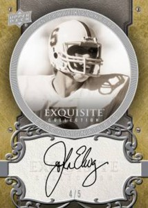 JOHN ELWAY 2010 EXQUISITE COLLECTION FOOTBALL Image