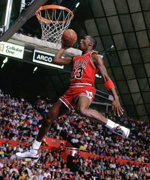 MICHAEL JORDAN 1987 SLAM DUNK CONTEST Image