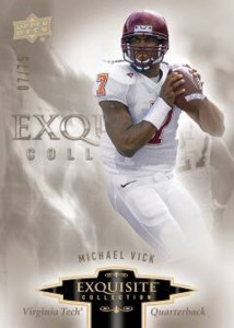 MICHAEL VICK 2010 EXQUISITE COLLECTION BASE CARD Image