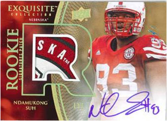 NDAMUKONG SUH 2010 EXQUISITE COLLECTION FOOTBALL Image