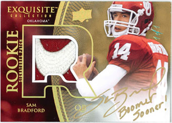SAM BRADFORD 2010 EXQUISITE COLLECTION FOOTBALL Image