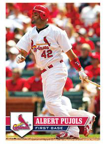 2011 Topps Baseball Sticker Collection Albert Pujols Image