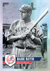 2011 Topps Baseball Sticker Collection Babe Ruth Image