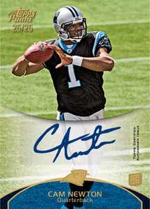 2011 Topps Prime Football Autographs Cam Newton Image
