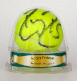 2011 Ace Authentic Hidden Signature Series IV Roger Federer Autographed Ball Image