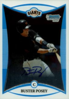 2008 Bowman Chrome Draft Picks Autographs Buster Posey Image