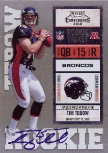 2010 Panini Contenders Tim Tebow Blue Jersey 212x300 Image