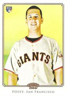 2010 Topps T 206 Buster Posey Rookie Card Image