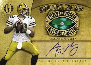 2011 Panini Gold Standard Football Super Bowl Rings Signatures Aaron Rodgers Image