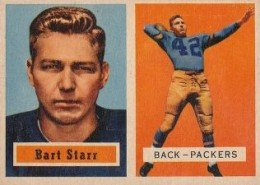 1957 Topps Football Bart Starr Rookie Card 260x185 Image