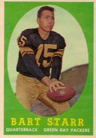 Bart Starr Football Cards, Rookie Card and Autograph Memorabilia Guide