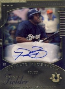 2005 UD Ultimate Collection Prince Fielder Autograph 99 Rookie Card Image