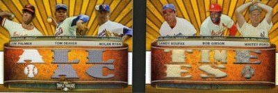 2011 Topps Triple Threads Book Cards Jim Palmer Tom Seaver Nolan Ryan Sandy Koufax Bob Gibson Whitey Ford All Time Aces Image