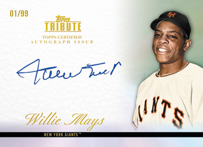 2012 Topps Tribute Baseball Autographs Willie Mays1 Image