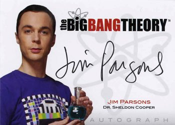 The Big Bang Theory Autographs Jim Pasons as Dr. Sheldon Cooper Image