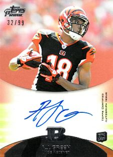 2011 Topps Prime Football Rookie Autographs AJ Green 99 Image