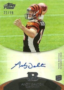 2011 Topps Prime Football Rookie Autographs Andy Dalton 99 Image