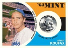2012 Topps Heritage Baseball 63 Mint Coin Sandy Koufax 260x185 Image