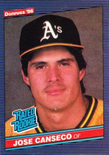 1986 Donruss Jose Canseco Image