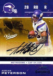 2007 Playoff Contenders Adrian Peterson Image