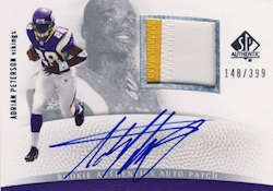 2007 SP Authentic Adrian Peterson Image