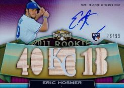 2011 Topps Triple Threads Eric Hosmer Autographed Bat 99 Image