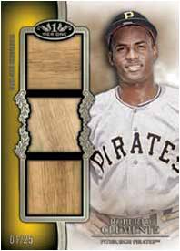 2012 Topps Tier One Baseball Top Shelf Triple Swatch Roberto Clemente Image