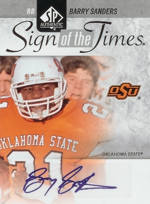 2011 SP Authentic Football Sign of the Times Autographs Barry Sanders Image
