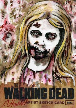 2011 Cryptozoic The Walking Dead Sketch Card Image