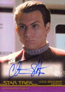 2011 Rittenhouse Star Trek Classic Movies Heroes and Villains Autographs A121 Christian Slater as USS Excelsior Officer 212x300 Image