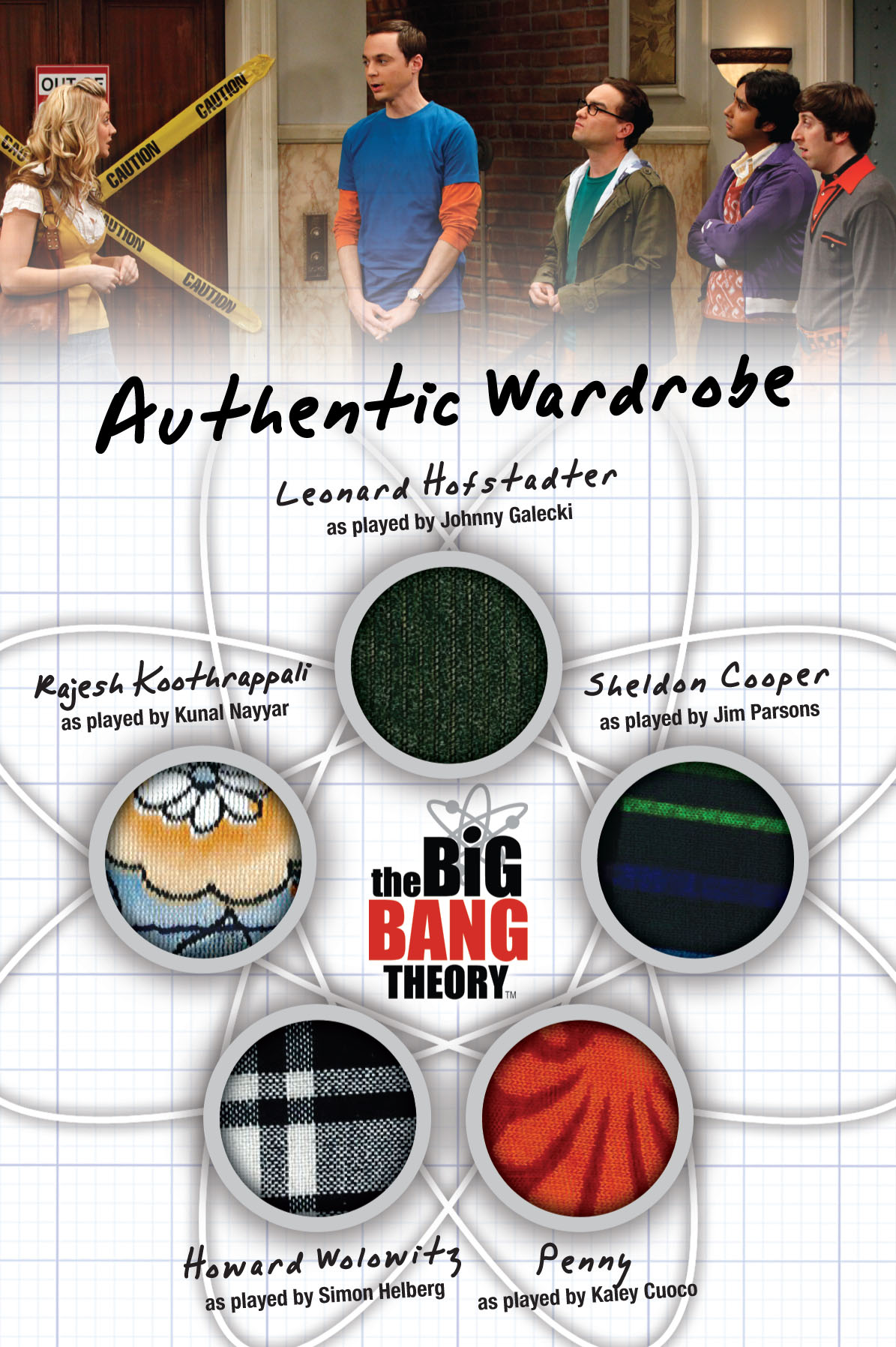 2012 Cryptozoic Big Bang Theory Oversized Wardrobe Card Image