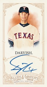 2012 Topps Allen and Ginter Autograph Yu Darvish 163x300 Image