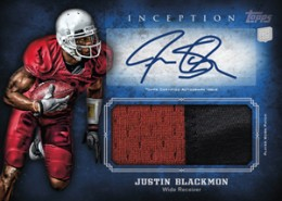 2012 Topps Inception Rookie Autograph Jersey Justin Blackmon 260x185 Image