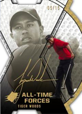 2012 Upper Deck All Time Greats All Time Forces Autograph Tiger Woods Image