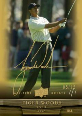 2012 Upper Deck All Time Greats Autograph Tiger Woods Image