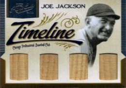 2011 Playoff Prime Cuts Timeline Quad Memorabilia Joe Jackson
