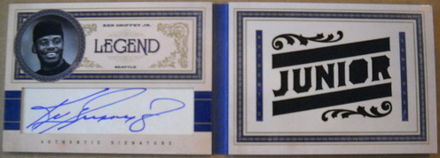 2011 Playoff Prime Cuts Legend Book Card Ken Griffey Jr Autograph Jersey /10