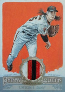 2012 Topps Gypsy Queen Original Art Relic Tim Lincecum 1