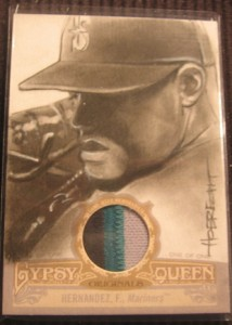 2012 Topps Gypsy Queen Original Art Patch Felix Hernandez