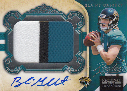 2011 National Treasures Football Autographed Patch 304 Blaine Gabbert 99 Image