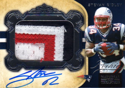 2011 National Treasures Football Autographed Patch 306 Stevan Ridley 99 Image