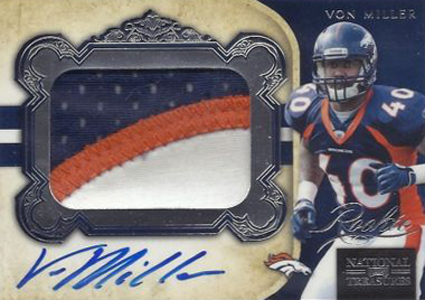 2011 National Treasures Football Autographed Patch 307 Von Miller Image